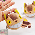 Kawaii Totoro Catbus Plush Pendant Soft Plush Anime Toy Doll 10cm Height My Neighbor Totoro Stuffed Dolls