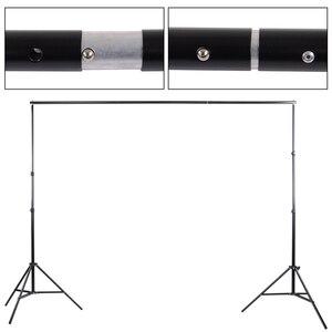 Image 2 - 2 * 3m / 6.5 * 10ft Adjustable Aluminum Photo Background Support Stand Photography Backdrop Crossbar Kit TB 20