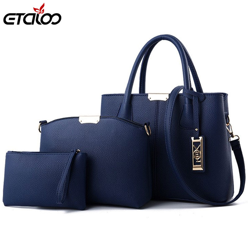 ffeb1645223a37 3Pcs/Sets Women Handbags Leather Shoulder Bags Female Large Capacity Casual  Tote Bag Tassel Bucket Purses New tide Sweet Lady-in Top-Handle Bags from  ...