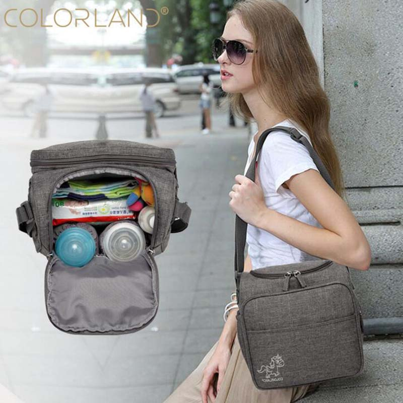 Colorland Baby Bag Large Diaper Bag Storage Bag Diaper Pregnant Women Package Maternal And Child Pregnant Women Diaper Bag Shoul