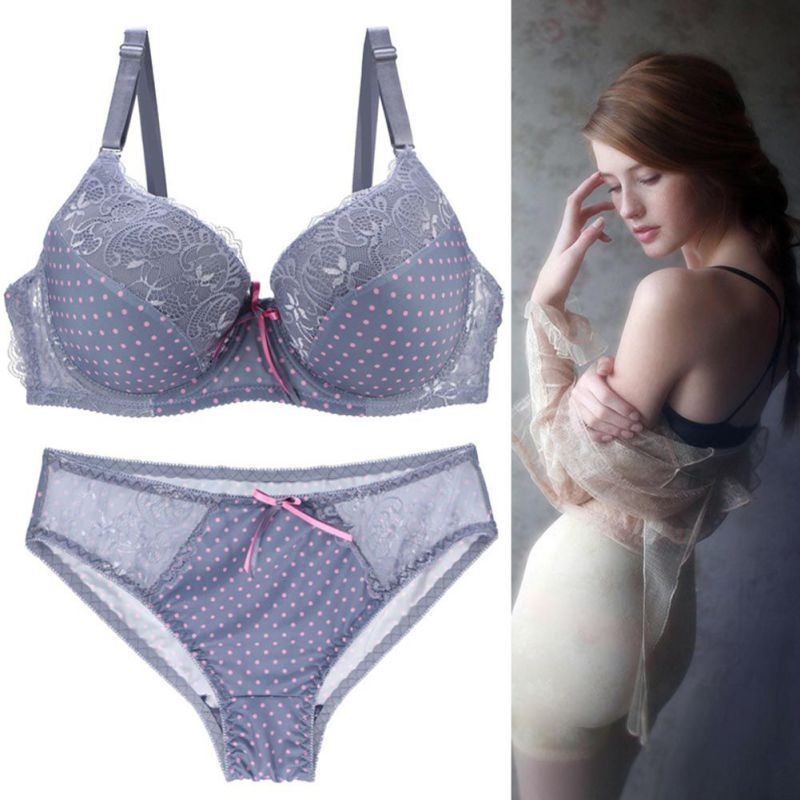 ROPALIA   Bra     Set   Lace Underwear C D E Cup Underwear Women Brand   Bra     Set   Sexy Ladies Completino Intimo Donna   Bras   And Panty   Set