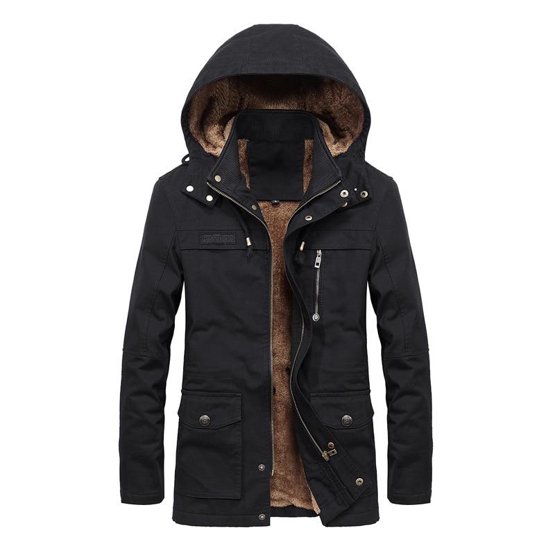 Прямая доставка мужская зимняя куртка Мужская бархатная вареная повседневная куртка Длинная ветровка с капюшоном пальто большой размер ...