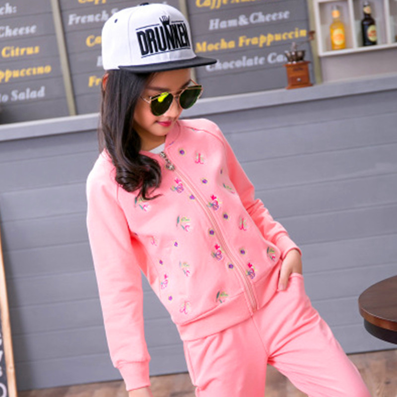 Eafreloy Children's Wear Girls New Style Cotton Three-Piece Suit Children Spring And Autumn Sportswear Girl Clothes Sweater S147