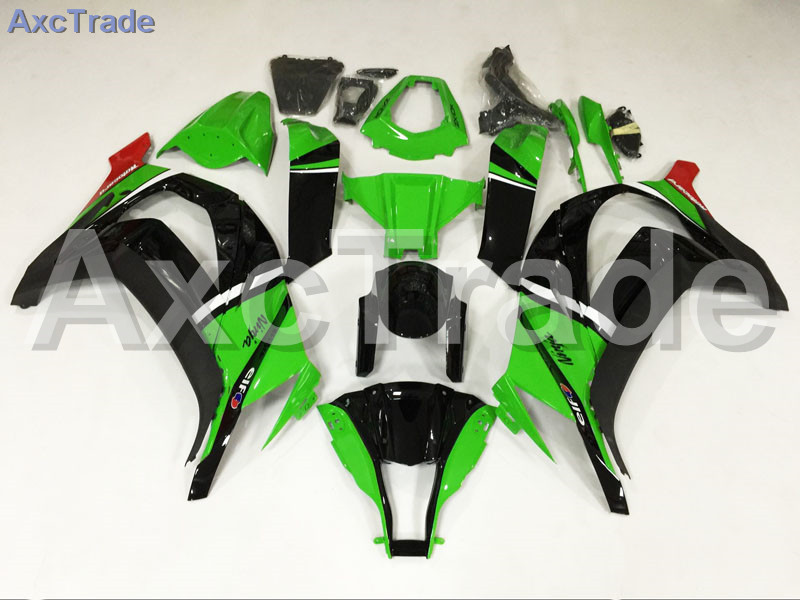 Motorcycle Fairings Kits For Kawasaki Ninja ZX10R ZX-10R 2011-2015 11 - 15 ABS Plastic Injection Fairing Bodywork Kit Green A692 moto motorcycle fairing kit for kawasaki ninja zx10r zx 10r 2008 2009 2010 08 09 10 abs plastic fairings fairing kit white black