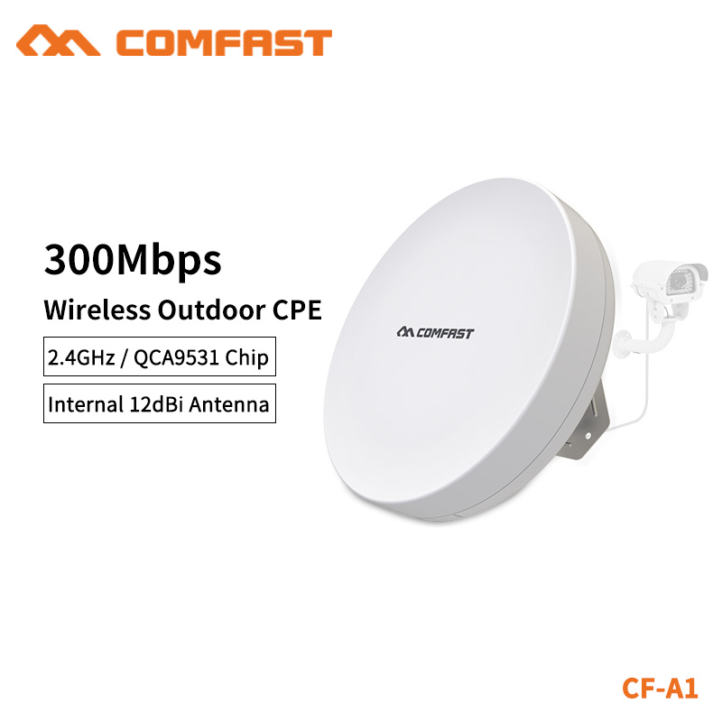 COMFAST WIFI Router Outdoor CPE Wireless Repeater 300mbps Router Bridge WIFI Repeater For Long Range IP Camera Project CF-A1 цена и фото