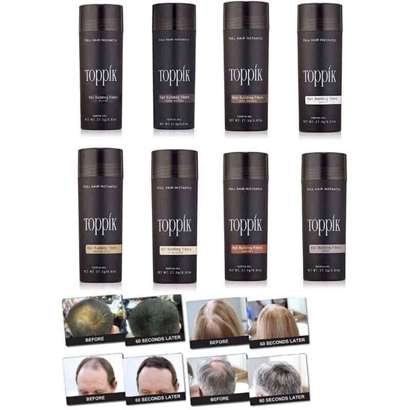 9 Styles Salon Beauty Hair Fiber Keratin Hair Building Fibers Powder Hair Loss C