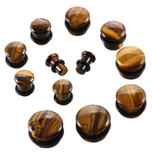 2Pcs/lot Natural Stone Ear Plug and Tunnels