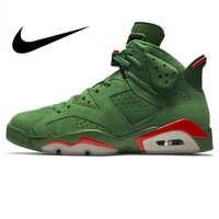 d5f2b8a3 Nike Air Jordan 6 Gatorade AJ6 зеленые замшевые Для мужчин; уличные  баскетбольные кроссовки спортивная Дизайнерская
