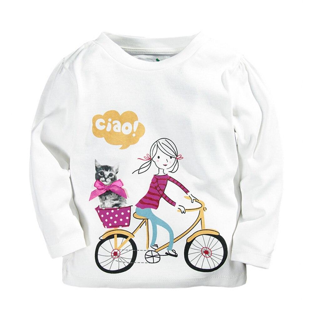 10 Stil 100% Baumwolle Frühling Herbst Kinder Kleidung Baby Jungen Mädchen T-shirt 1-5year Kinder Jacke Junge Mädchen Langarm T-stücke Hemd