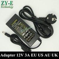 1X 12V 3A Electrical Equipment Supplies Power Supplies AC DC Converter Adapters 5 5x2 1mm 5050