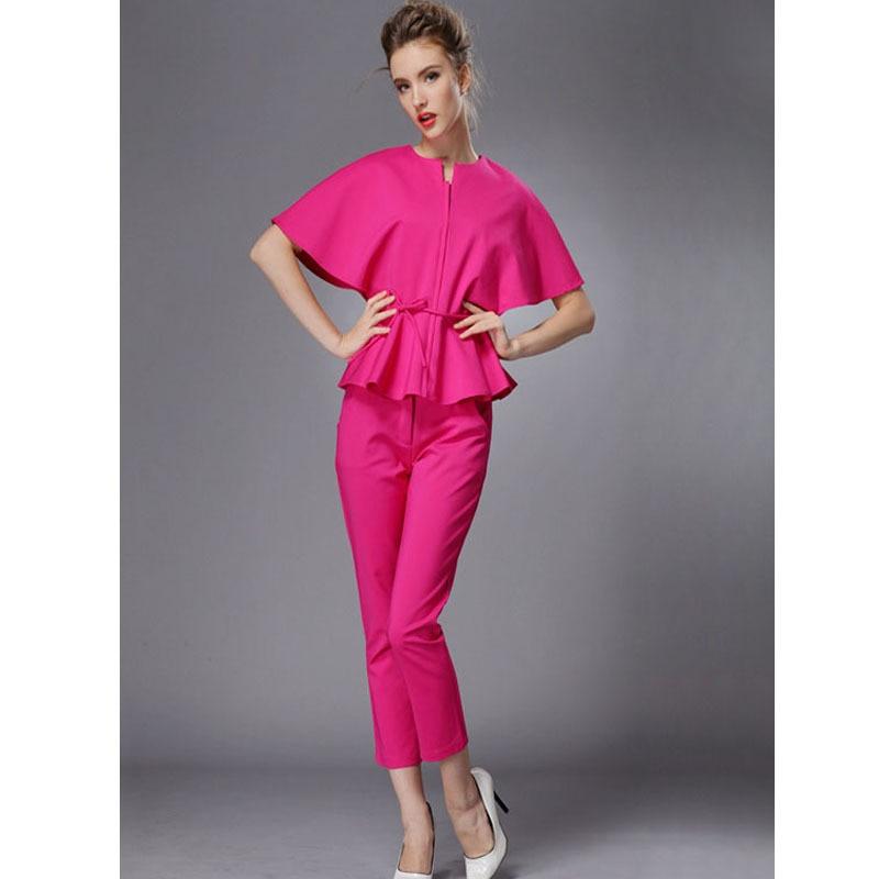 Elegant Ladies Pants Suit 2015 Top Fashion Summer