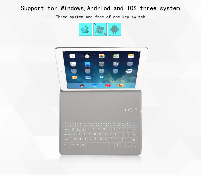 New Ultra Slim Wireless Case for Ipad 9