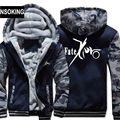 New Winter Warm fate zero Hoodies AnimeFate Stay Night Hooded Coat Thick Zipper men cardigan Jacket Sweatshirt