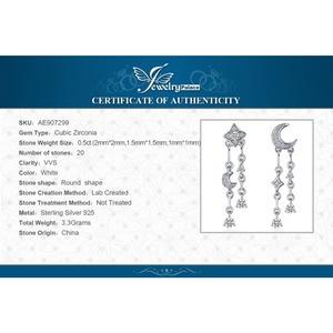 Image 5 - Женские серьги подвески из стерлингового серебра 925 пробы с фианитом и звездой, корейские серьги, модные ювелирные изделия