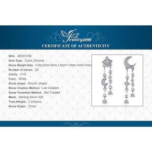 Image 5 - JewelryPalace スタームーンキュービックジルコニアブラブラドロップピアス 925 スターリングシルバーイヤリング女性韓国イヤリングファッションジュエリー