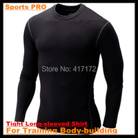 High Flexibility Body Compression Base Layer Sport PRO Training Body Building Tight Full Long Sleeved Shirt