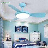 Nordic ceiling fan light leads to frequency conversion modern minimalist fan light restaurant living room bedroom home fan lamp