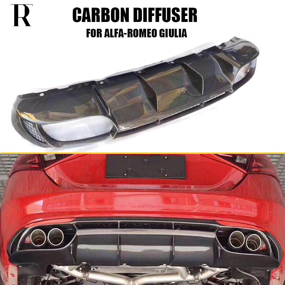 QV Style Giulia Change To 4 Outlet Carbon Fiber Rear