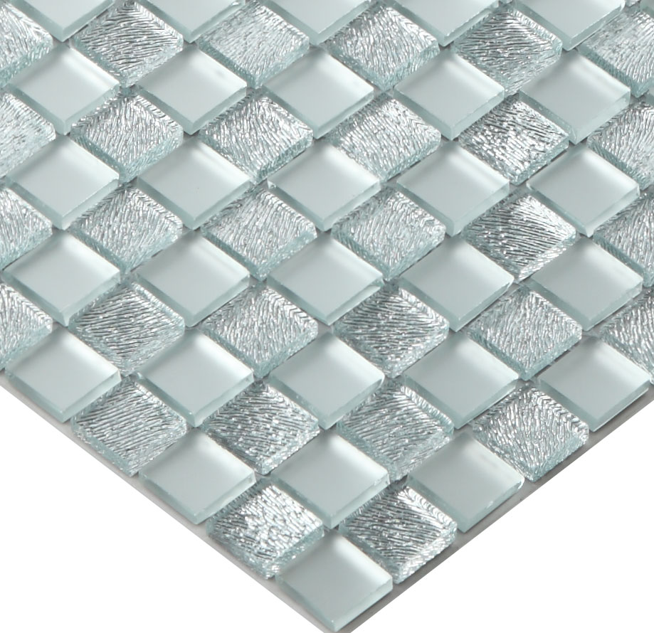 silver crystal mirror glass mosaic tiles HMGM2008B for kitchen ...