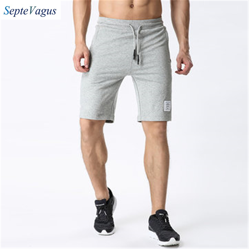 Fashion Shorts Mens Summer Pure Cotton Breathable Beach Drawstring Shorts Cotton Shorts for Men Professional Bodybuilding Short