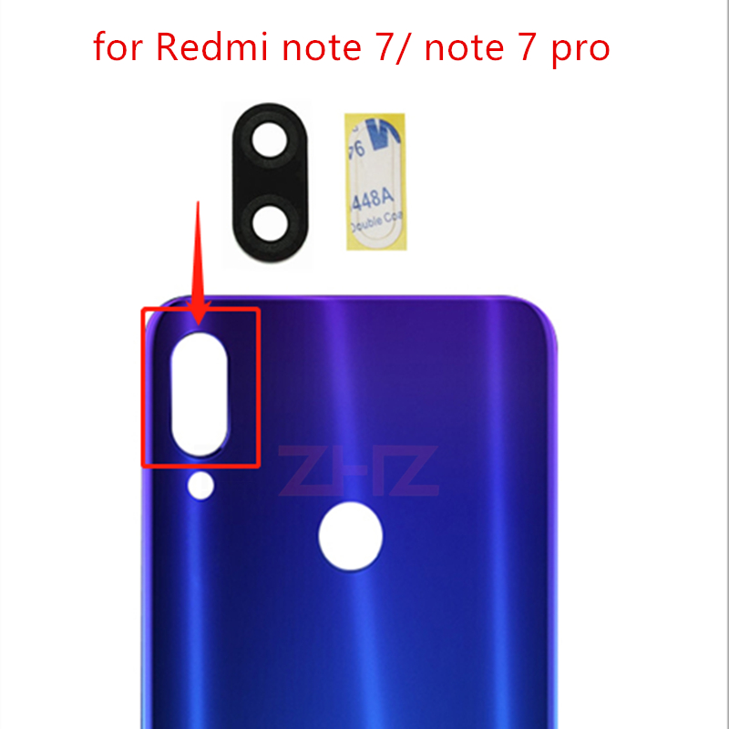 2pcs For Xiaomi Redmi Note 7/ Note7 Pro Camera Glass Lens Back Rear Camera Glass Lens Replacement Repair Spare Parts With Glue