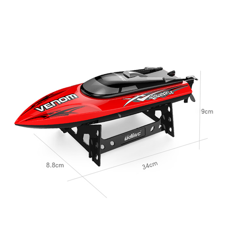 Image 4 - 30KM/H High Speed Mini RC Boat 2.4GHZ 4CH Radio Remote Control Speedboat For Fishing Ship Bait Boat Electric RC Toys For Gifts-in RC Boats from Toys & Hobbies