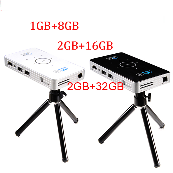 pocket projector 4k dlp mini C6 projector 50 lumen Android 6 0 quad core dual band