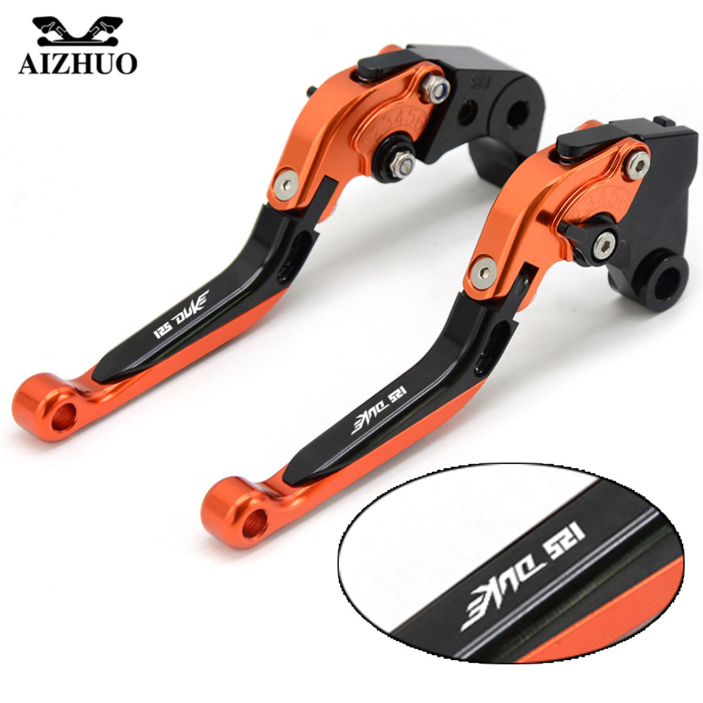 Motorcycle Brake Clutch Lever Moto Folding Extendable Brake Levers For KTM 125 DUKE 125DUKE RC 125 2011 2012 2013 2014 2015 2016 for ktm rc390 rc200 rc125 125 duke high quality motorcycle cnc foldable extending brake clutch levers folding extendable lever