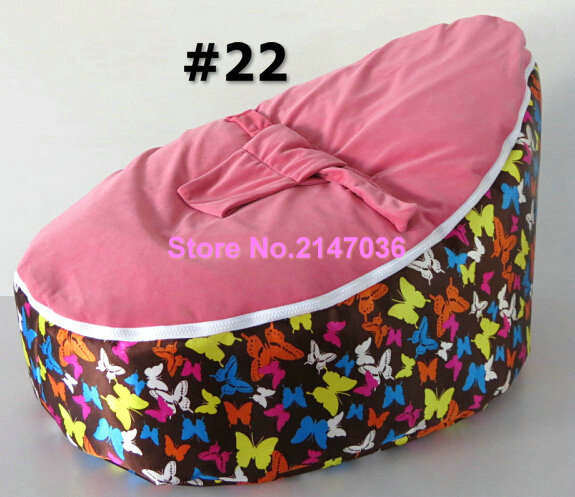 Butterfly Pink baby bean bag chair tiger fur hotsell waterproof kids beanbag sofa seat with 2