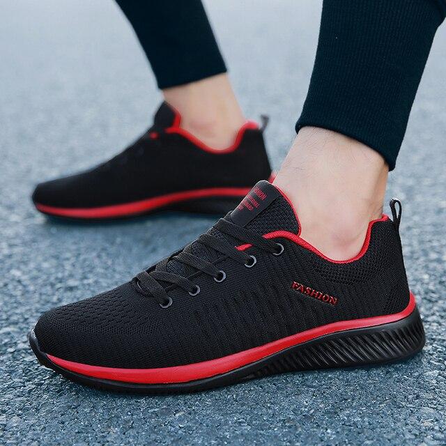 2019 Lente Nieuwe Mesh Mannen Sneakers Lace up Mannen Casual Schoenen Lichtgewicht Ademend Wandelschoenen Sneakers Tenis Feminino Zapatos WW 866