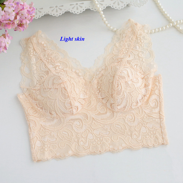 New arrival pure silk lace broad shoulder strap sexy tube top,100% knitted silk V-neck wireless detachable chest pad bra