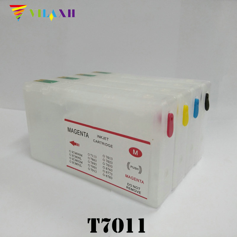 T7011 T7012 T7013 T7014 Refillable Ink Cartridge For Epson WP-4000 WP-4500 WP-4015 WP-4025 WP 4000 4500 4015 4025 4515 4525 4535 old wp