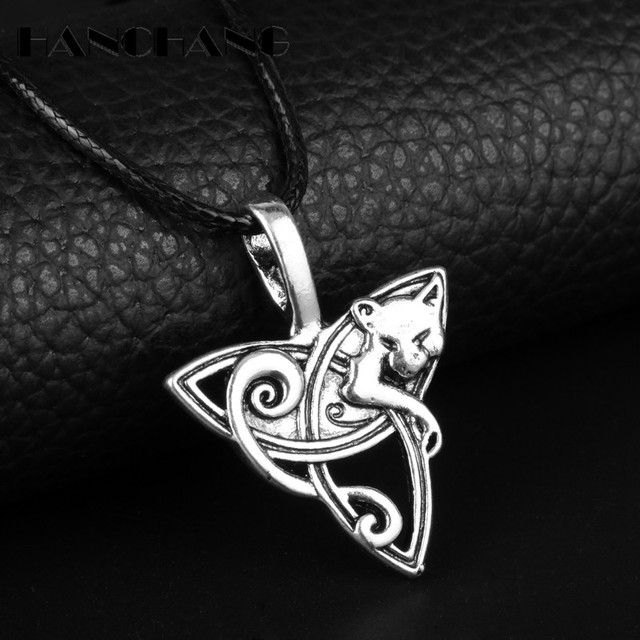 Collier loup Fenrir et Design Celtic 2