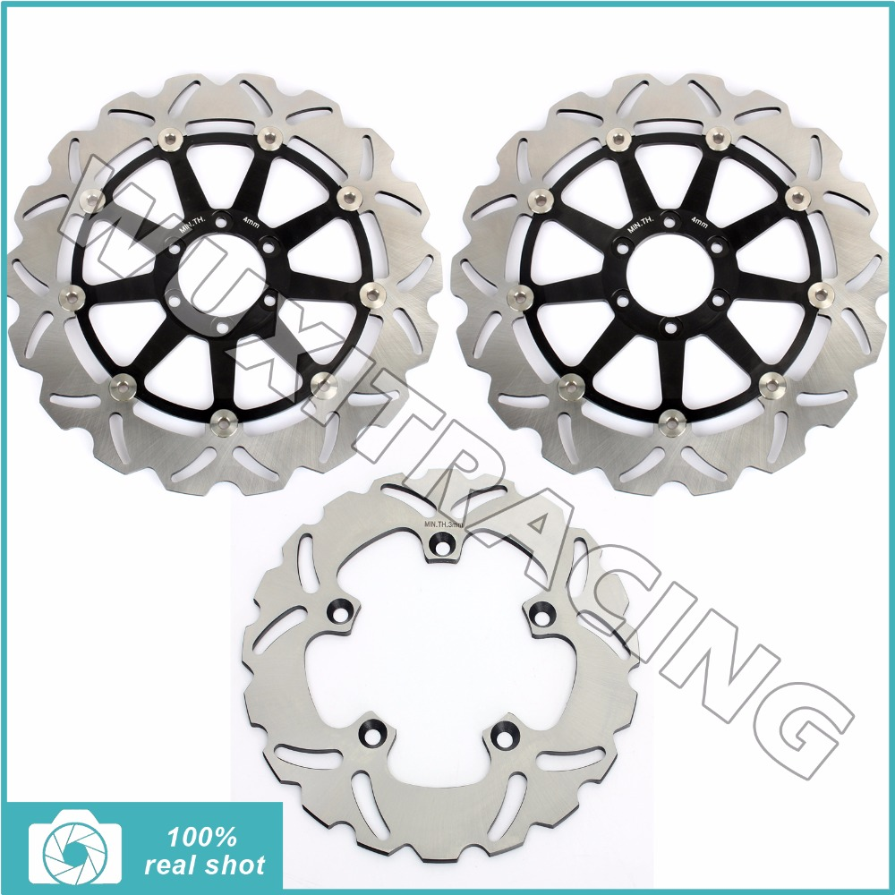 Front Rear Brake Discs Rotors For Rsv 1000 Mille R Sp Factory Sl Aprilia Falco Wiring Tuono Fighter Racing V4 Aprc Rsv4 Se In Disks From