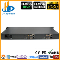 HEVC H.265 H.264 3G HD SD SDI To IP Video Streaming Encoder H265 To Wowza, Xtream Codes IPTV Media Server, Live Stream Broadcast