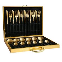 24pcs KuBac Hommi Black Gold 18/10 Stainless Steel Steak Knife Fork Black Silver Cutlery Set With Wooden Gift Box Drop Shipping marvis black box gift set