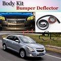 Para Chevrolet Cobalt Pára Lábio Lábios/Lábio Carro Loja de Spoiler Para carro Tuning/Body Kit + Tira/Carro Adesivo À Prova de Riscos tira