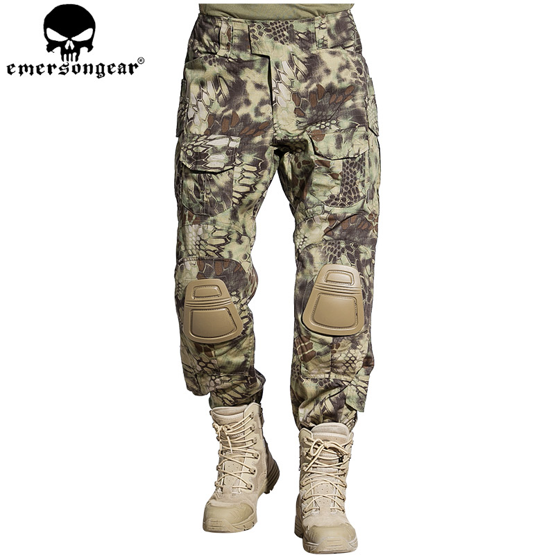 EMERSONGEAR Tactical Pants With Knee Pads Airsoft Hunting Pants Combat Pants Military Airsoft Camouflage Pants Mandrake EM7046 emersongear g3 combat pants with knee pads military bdu army airsoft emerson gear paintball hunting trousers em7046 mandrake