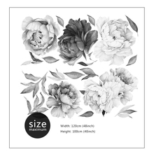 Floral wall art peony nordic style decoration stickers decor accessories