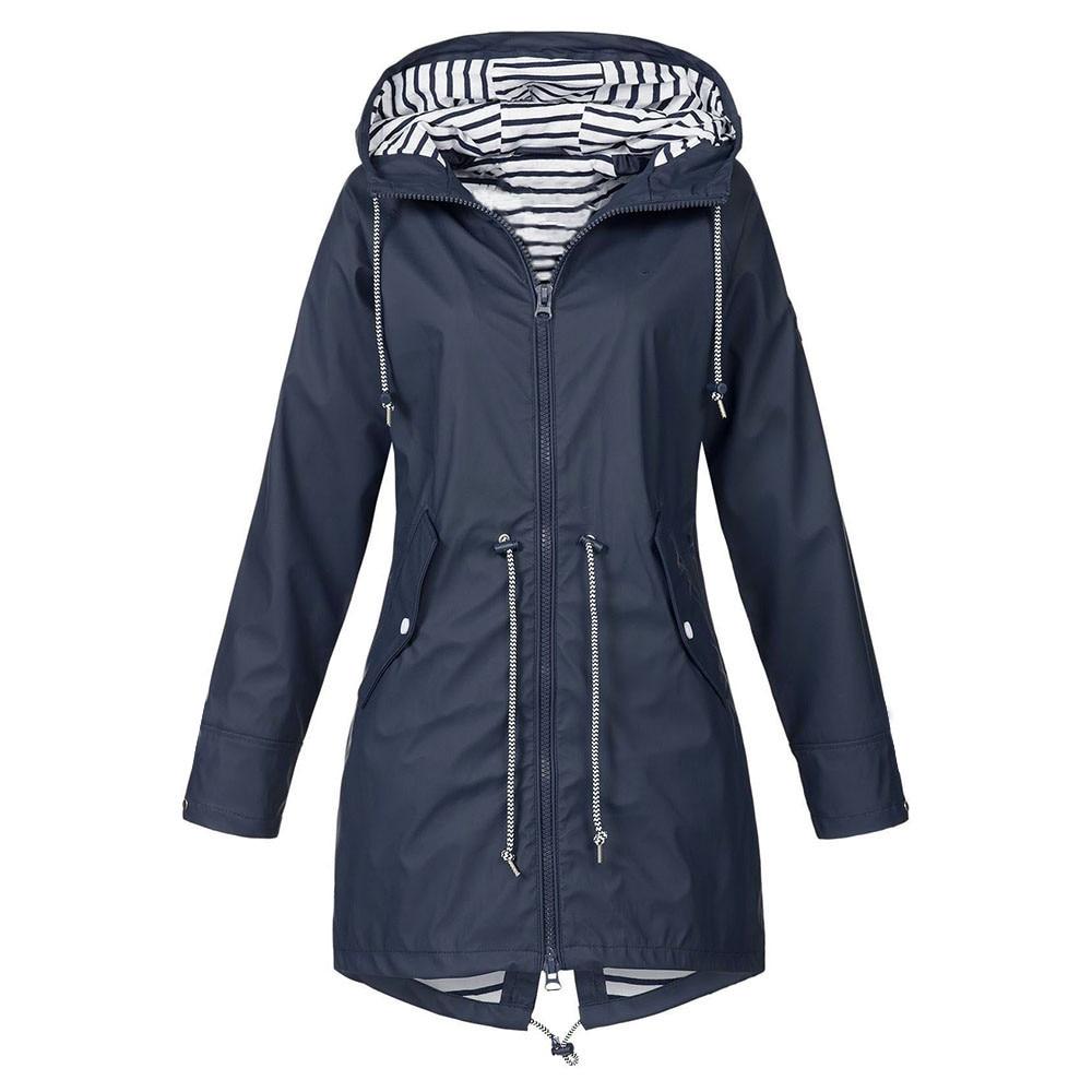 FeiTong парка зимний жакет, женский пиджак 2019 однотонный дождевик уличные куртки водонепроницаемый с капюшоном ветрозащитный плащ парка для ж...