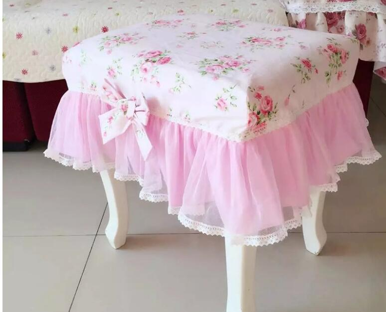 Korean idyllic cotton cloth cover Clove flower dream makeup stool piano stool cover Dresser dust cover can be customized