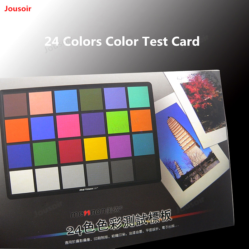 Medium 24 Colors Color Test Card color Correction Photo Palette Toner Card Standard digital photographic color plate CD50 T11Medium 24 Colors Color Test Card color Correction Photo Palette Toner Card Standard digital photographic color plate CD50 T11