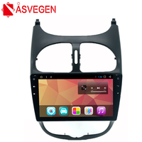 Asvegen 9 inch Ram 2G Android 7.1 Quad Core Car Radio DVD Player For PEUGEOT 206 Stereo Wifi Bluetooth Multimedia GPS Navigation