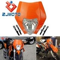 Universal carenagem do farol da motocicleta para ktm mx sxf sx xcw xc exc xcf 125 150 250 300 350 450 laranja bicicleta sujeira máscara|  -