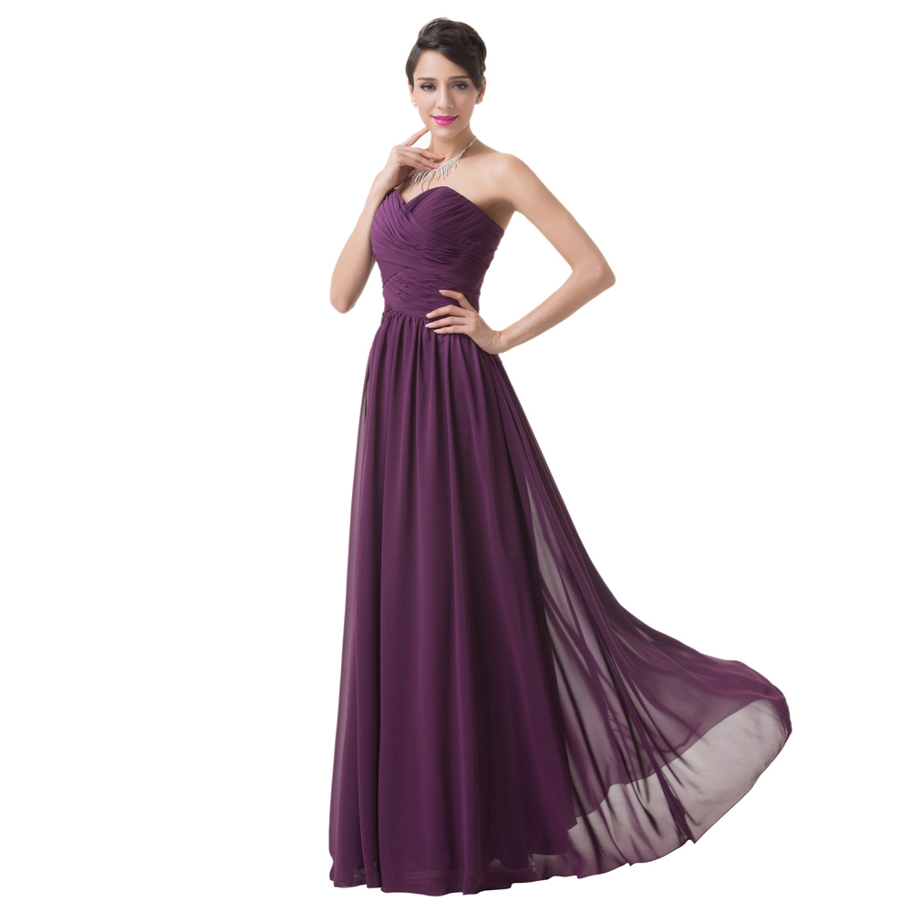 Floor length chiffon dress cheap