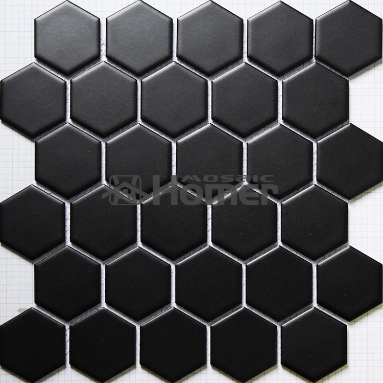 Shipping Free!! Hexagon Black Ceramic Mosaic,bathroom Shower Tiles Floor  Mosaic Tiles Mesh Backing Kitchen Floor Ceramic Tile