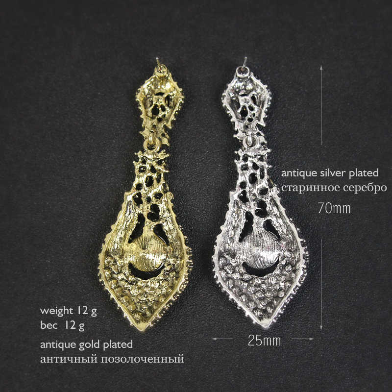b994d9338 ... 2019 Fashion Indian Vintage Earrings for Women Modern Statement Earring  Women's big Drop Hanging Dangle Brincos ...