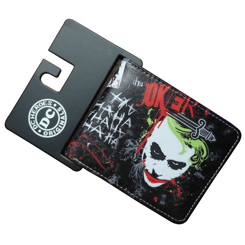DC Marvel Comics Joker Wallets Casual Leather Short Purse Money Bags Pocket Student Young Wallet comics dc marvel wallet the avengers captain america card bags famous amine cartoon purse leather male casual branded wallets