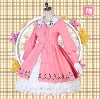 New Cardcaptor Sakura Cosplay Costume Kinomoto Sakura/Daidouji Tomoyo Cosplay Pink Dress Halloween Adult Costumes for Women 2