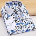 2017 hombres Boutique de Moda de lujo de manga larga Camisa/de Los Hombres Ocasionales del algodón de Cross Line Dress Slim Fit marca de impresión camisas